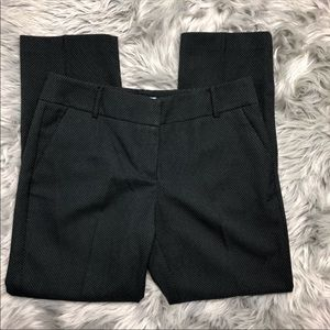 New York & co dark charcoal dotted ankle pants 10